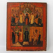 Ikone der Gottesmutter Pokrow. SÜDRUSSLAND, um 1850