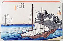 Farbholzschnitt. JAPAN, 20. Jh.