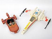 STAR WARS X-Wing Fighter und Land Speeder,