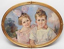 V. EYNATTERN, F. (19./20. Jhd.), Sohn und Tochter des Ehepaares Keyling, Berlin, um 1930.