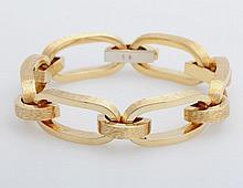 Armkette teilweise sattiniert/ poliert, aus den 1960er Jahren, ungetragen.