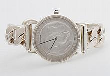 CORUM Armbanduhr mit Silbermünze