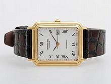 RAYMOND WEIL Armbanduhr, rechteckiges Gehäuse, goldplattiert, D: ca. 26,0mm.