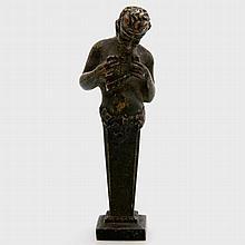 Bronze-Petschaft 'Pan', wohl um 1900.