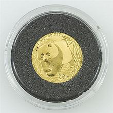 China  - 20 Yuan 2002, Panda, PP,