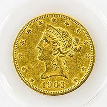 USA - 10 Dollars 1903, GOLD,