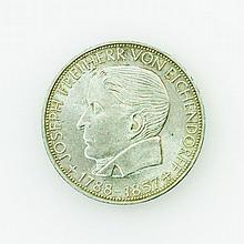BRD - 5 Deutsche Mark 1957 J, v. Eichendorff,