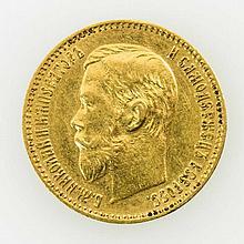 Russland - 5 Rubel 1898/r, GOLD,