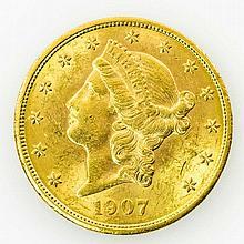 USA/GOLD - 20 Dollars 1907, Liberty Head,