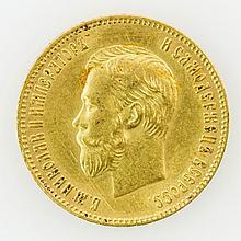 Russland/GOLD - 10 Rubel 1904, Nikolaus II.,