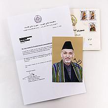 Autographen - Hamid Karzai (geb. 1957), ehem. Präsident Afghanistans,