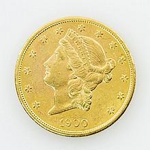 USA - 20 Dollars Liberty Head, 1900/S, GOLD,