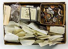 Kleiner Karton Teil II mit Resten einer größeren Einlieferung, unsortiert daher sicherlich Fundgrube!