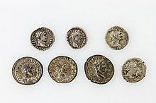 Antike, römisch - Konvolut von 4 Denare und 3 Antoninianen,