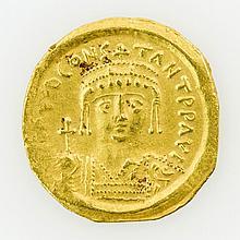 Antike, oström. Kaiser - Tiberius Constantin (573-582), GOLD Solidus, Constantinopolis,