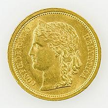 Schweiz/GOLD - 20 Franken 1886, Helvetia,
