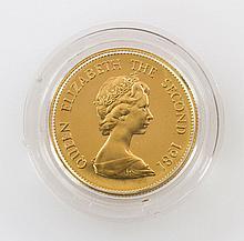 China/GOLD Hongkong, ehemals britische Kronkolonie - 1000 Dollar 1981, Lunar-Serie Jahr des Hahns,