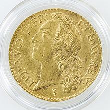 Frankreich - Lous dór 1744, Ludwig XV, GOLD,
