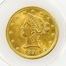USA - 10 Dollars 1894 Neuprägung., GOLD,