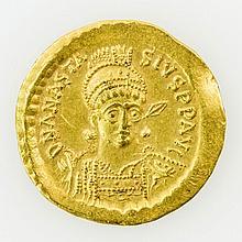 Byzanz - Anastasius (491-518), GOLD Solidus,