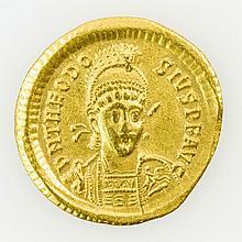 Antike oström. Kaiser - Theodosius II. ( 402-450), GOLD Solidus,