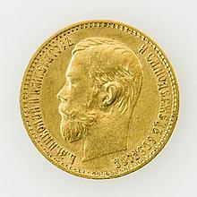 Russland/GOLD - 5 Rubel 1898 r Nikolaus II.,