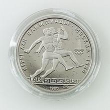 Russland/PLATIN - 150 Rubel 1980, Olympiade Moskau,