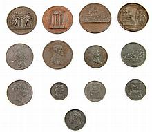 Frankreich - Medaillen, Konvolut: 13 Stück, Abgüsse/Abschläge ca. aus der Mitte des 19. Jh.,