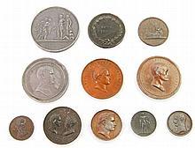 Frankreich - Medaillen, Konvolut: 11 Stück, Abgüsse/Abschläge ca. aus der Mitte des 19. Jh.,