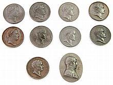 Frankreich - Medaillen, Konvolut: 10 Stück, Abgüsse/Abschläge ca. aus der Mitte des 19. Jh., Napoleon I. Bonaparte, 1. Konsul und Kaiser,