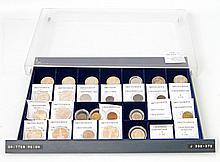 III. Reich - Schönes Tableau mit 27 Münzen von Kleinmünzen bis 5 Mark,