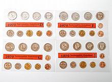 BRD - 4 x Kursmünzensatz 1979, alle Prägestätten,
