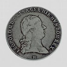 Österreich - Kronentaler 1791 H, Günzburg, Leopold II., 1790-1792,