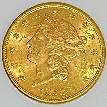 USA / Gold - 20 Dollars 1898 S, San Fransisco, Coronet Head,