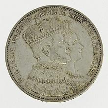 Preußen - Konvolut: a) Krönungstaler 1861 Wilhelm und Augusta,