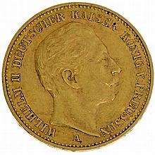 Preussen - 20 Mark 1906, WH II, GOLD,