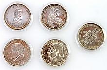 Die grossen Fünf - 5 x 5 DM: 1952 D, 1955 F, 1955 G, 1957 J und 1964 J,