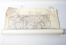 III. Reich - 'Deutsche Heereskarte' Baden und Württemberg, Konvolut aus ca. 32 topographischen Karten,