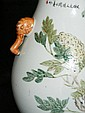 19th C Chinese porcelain vase with elephant head