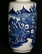 Large Chinese 19th C porcelain vase. H:17.5