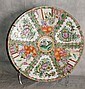 19th C Chinese rose medallion porcelain charger.