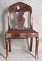 Single mahogany side chair with needlepoint