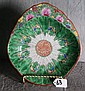 Chinese porcelain cabbage leaf plate. L:10.5