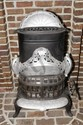 L34 ANTIQUE NUMBER 4 PENINSULAR CAST IRON STOVE BLACK AND SILVER