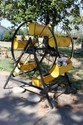 L4 VINTAGE LARGE PAINTED CAST IRON FERRIS WHEEL PLANTER URBAN GARDENING