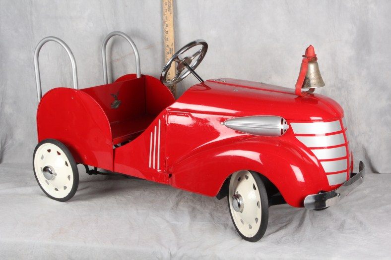 L13 RARE ORIGINAL GENDRON 1936-1938 STEEL SKIPPY LADDER TRUCK #28-175 PEDAL CAR
