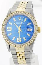 Rolex Two-Tone 1.00 ctw Diamond DateJust Men's Watch