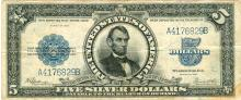 1923 $5 Porthole Silver Certificate
