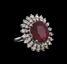 14KT White Gold 14.62 ctw Ruby and Diamond Ring