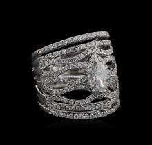2.27 ctw Diamond Ring - 14KT White Gold